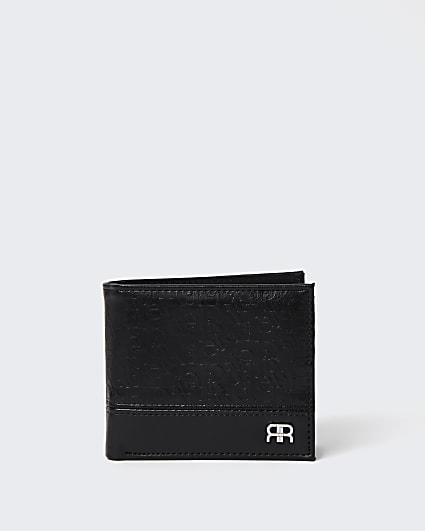 Black RI monogram bifold wallet