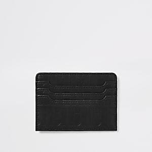 Porte-cartes RI noir monogramme