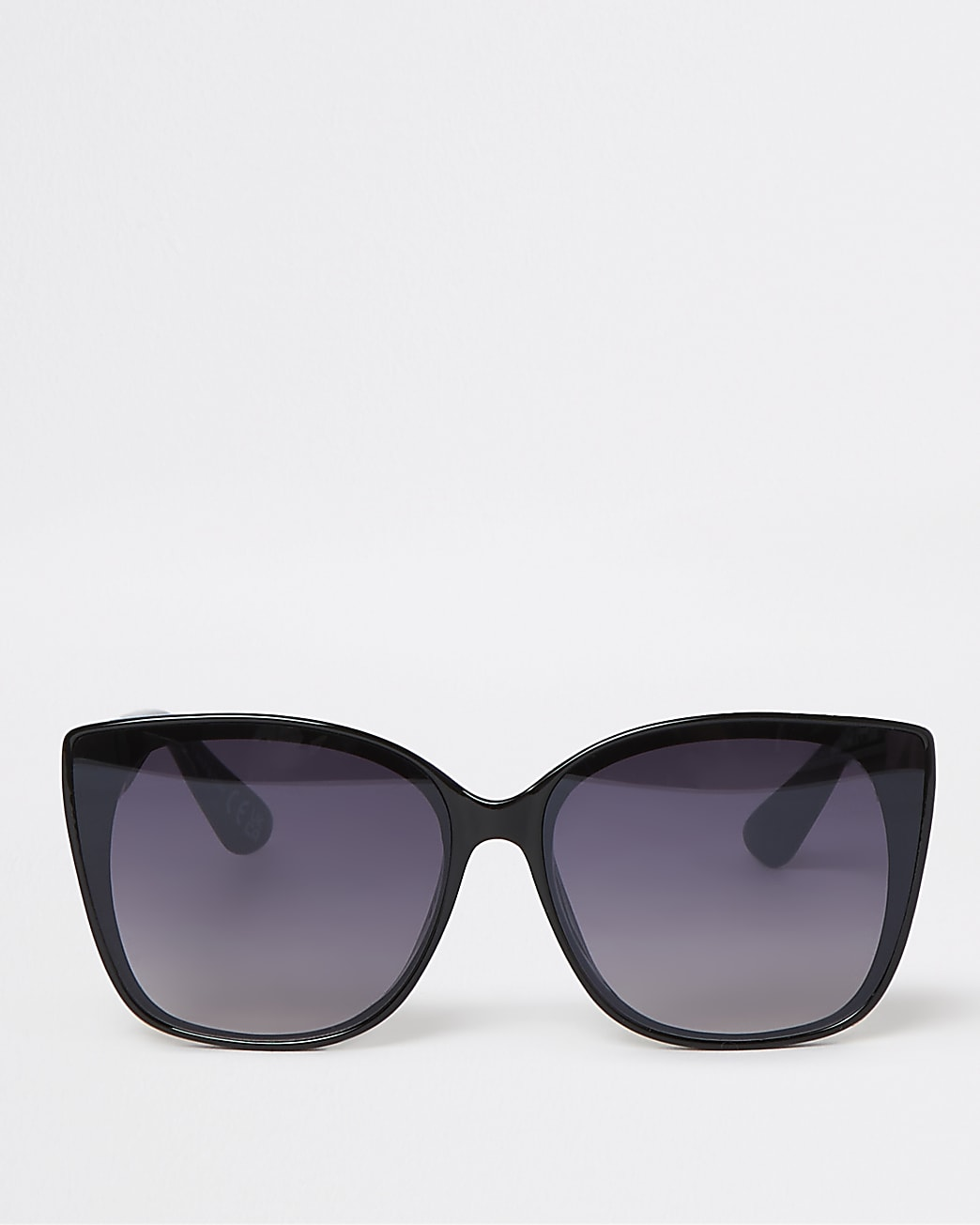 Black RI monogram cateye sunglasses