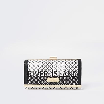 Black RI monogram cliptop purse