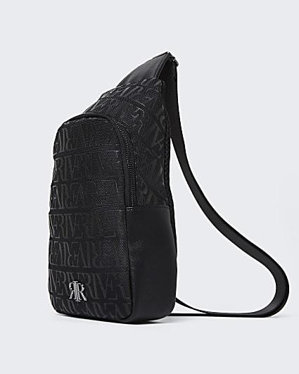 Black RI monogram commuter bag