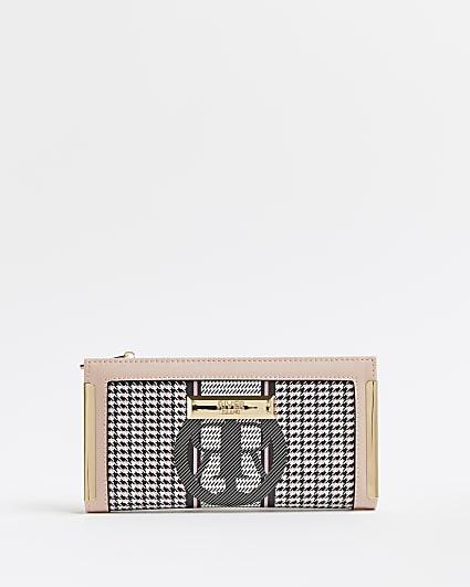 Black RI monogram dogtooth purse