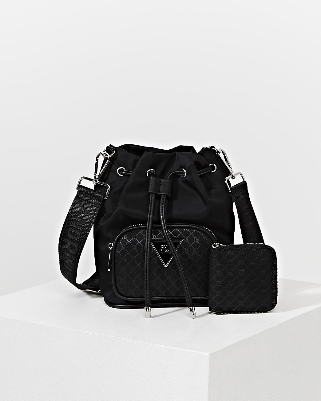 Black RI monogram duffle bag