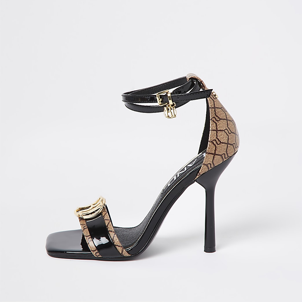 Black RI monogram high heel
