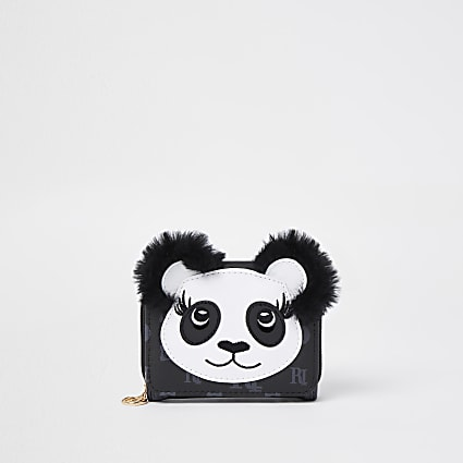 Black RI monogram panda purse