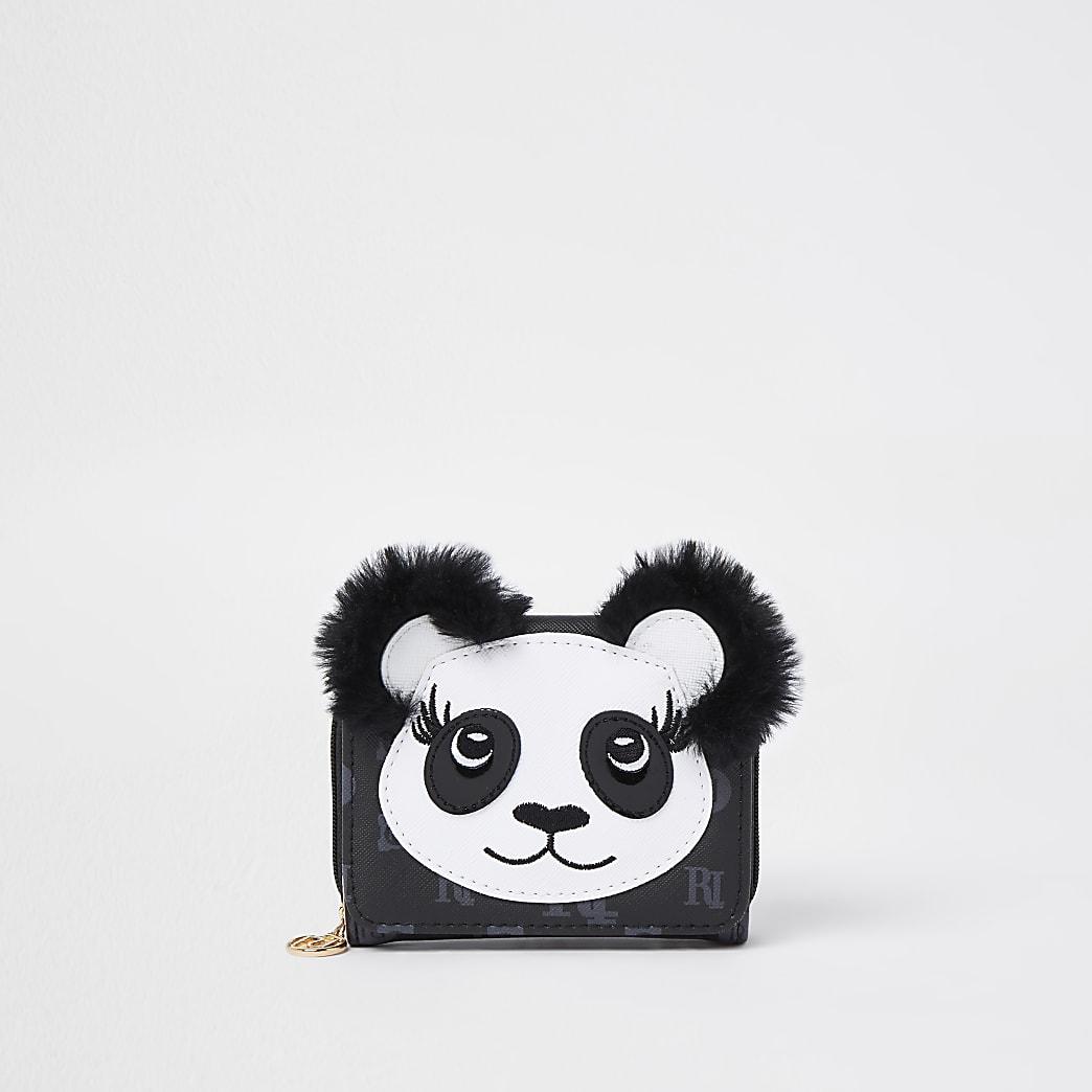 Black RI monogram panda purse