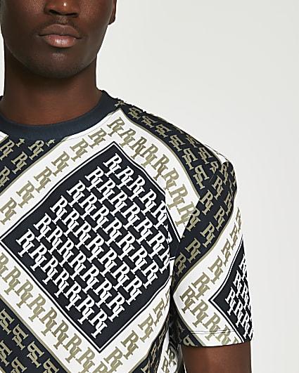 Black RI monogram regular fit t-shirt