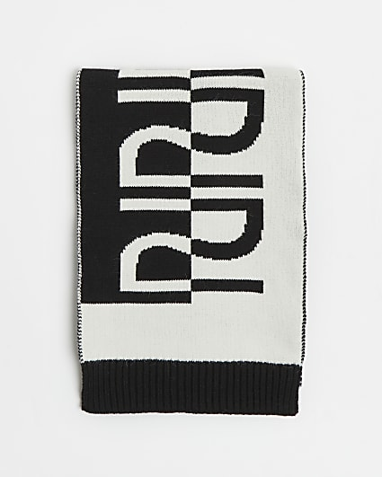 Black RI monogram scarf