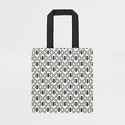 Black RI monogram shopper bag