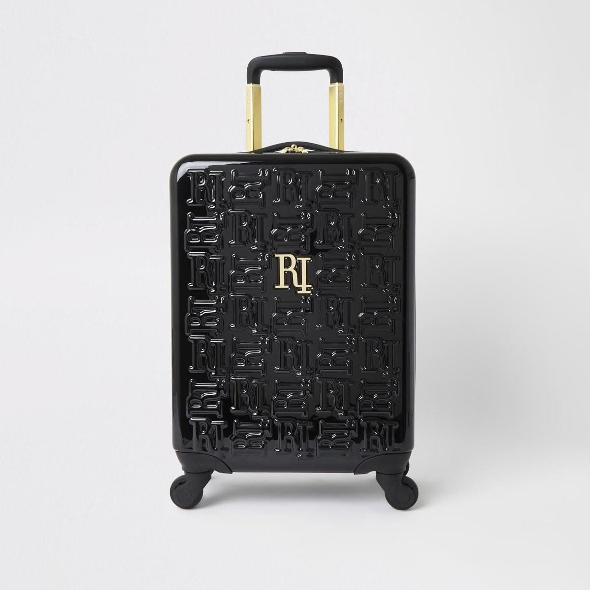 Black RI monogram small suitcase