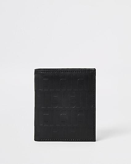 Black RI monogram vintage cardholder