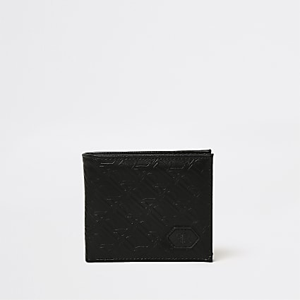 Black RI monogram wallet