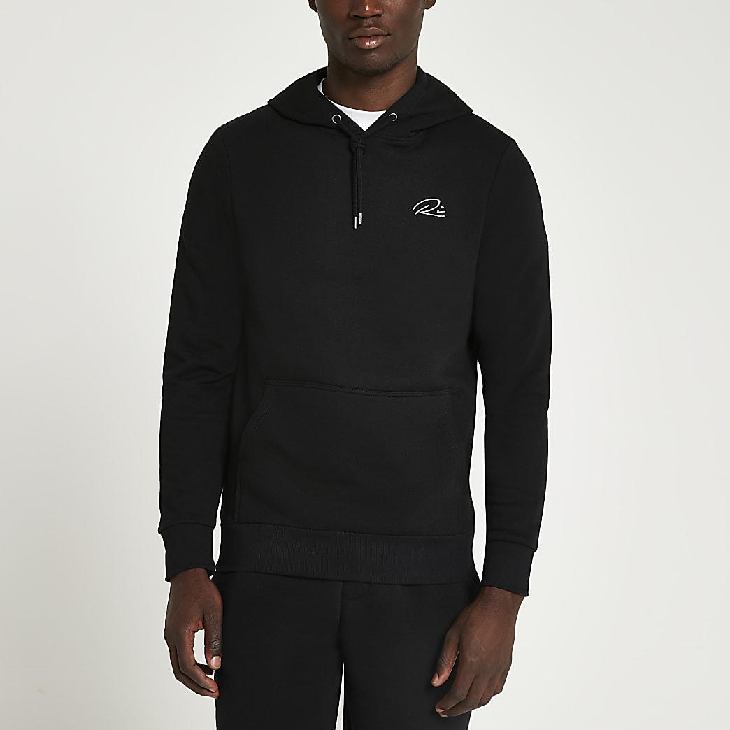 Black RI muscle fit hoodie