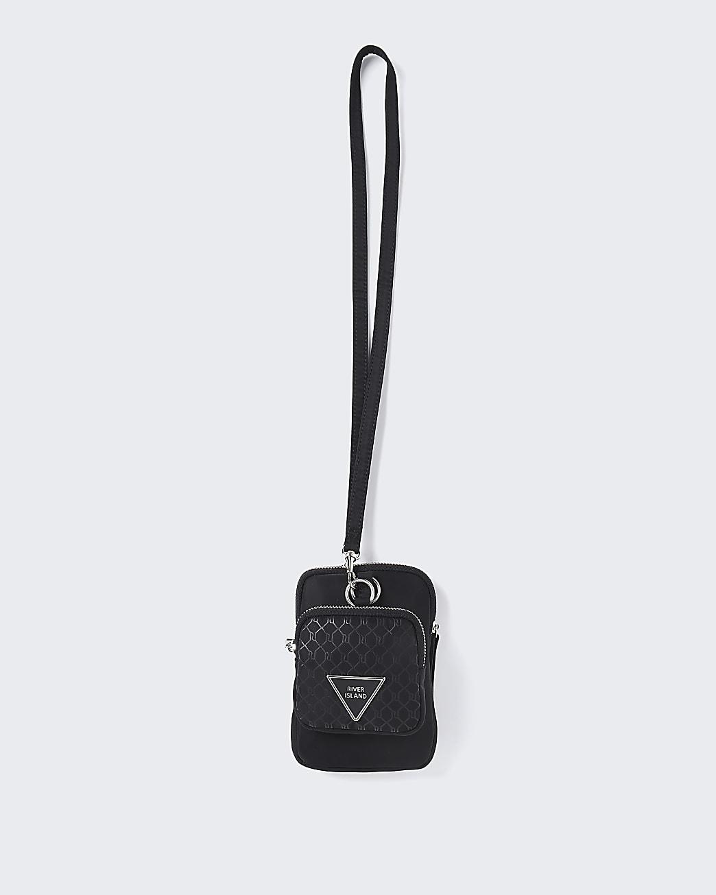 Black RI nylon pouch bag