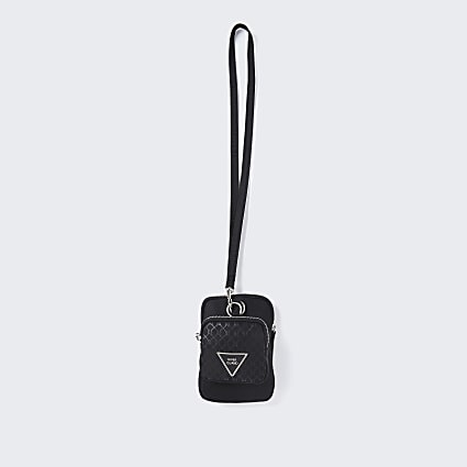Black RI nylon pouch bag