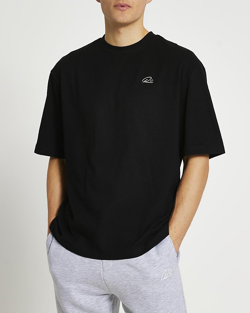 Black RI oversized t-shirt