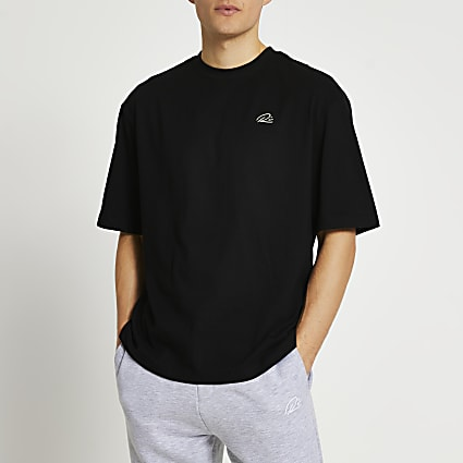 Black RI oversized t-shirt