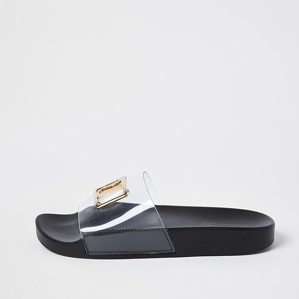 Black RI perspex sliders