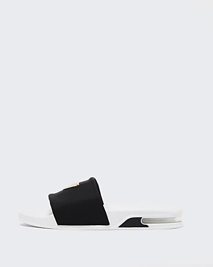Black RI plated bubble sole sliders