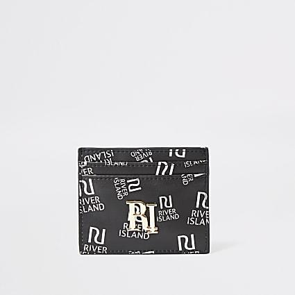 Black RI print cardholder