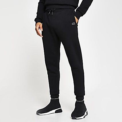 Black RI print slim fit Joggers