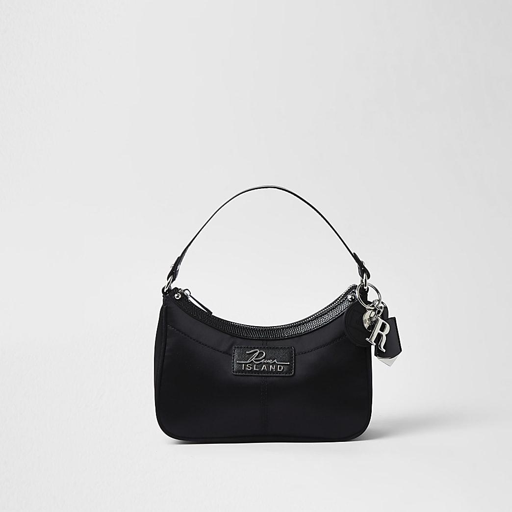 Black RI scoop shoulder bag