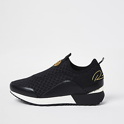 Black RI scuba runner trainers