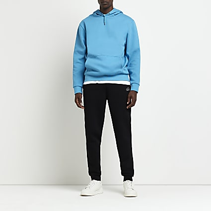 Black RI slim fit joggers