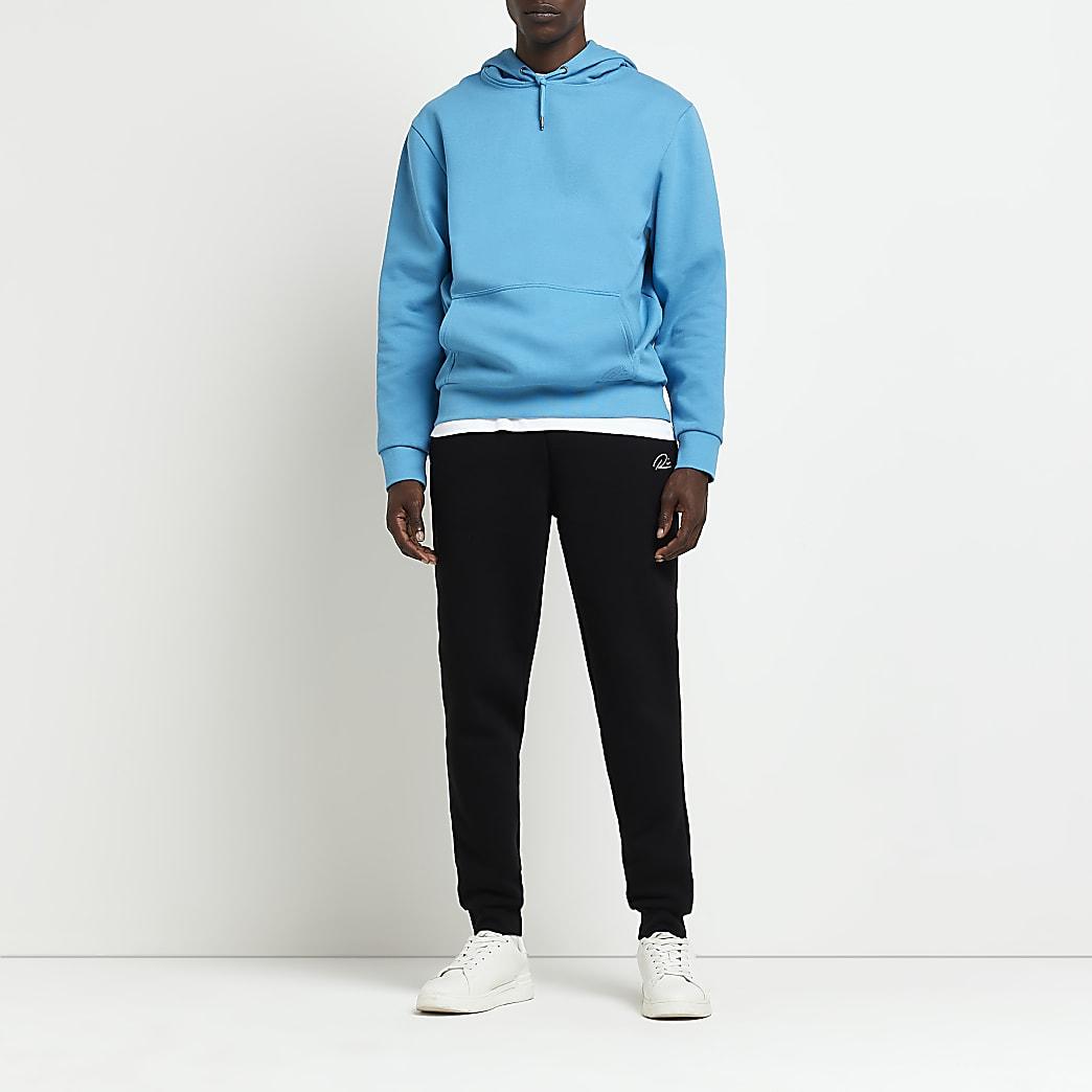 Black RI slim fit joggers