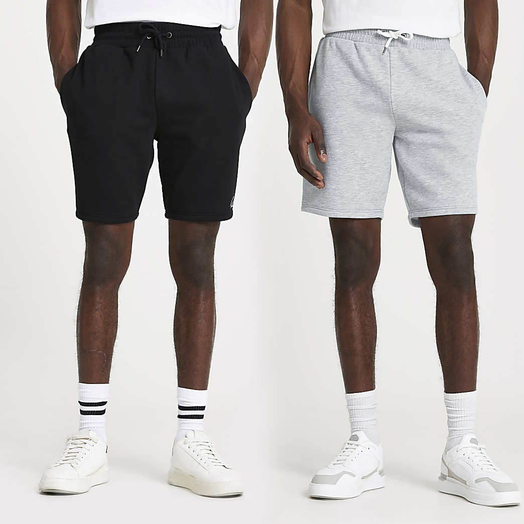 Black RI slim fit shorts 2 pack