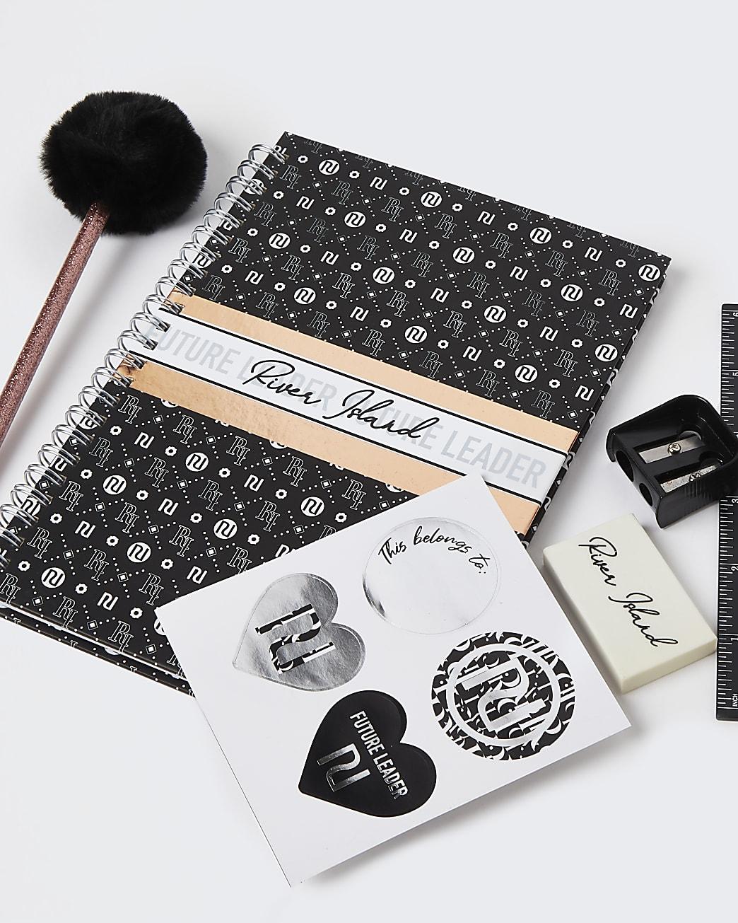 Black RI stationery set