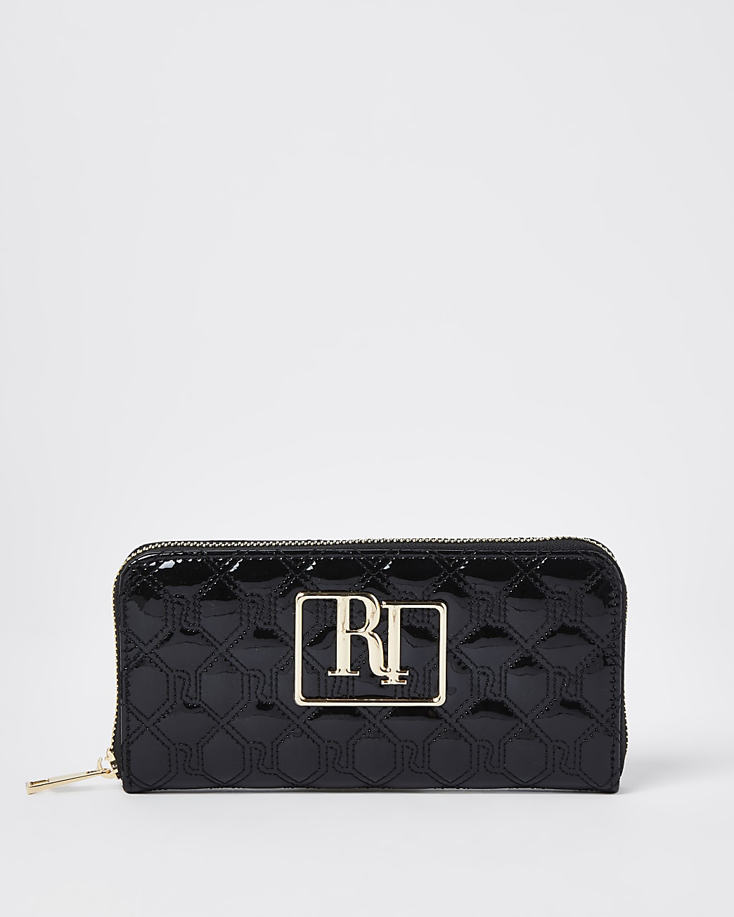 Black RI stitch embossed purse