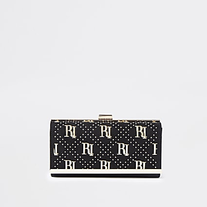 Black RI studded cliptop purse
