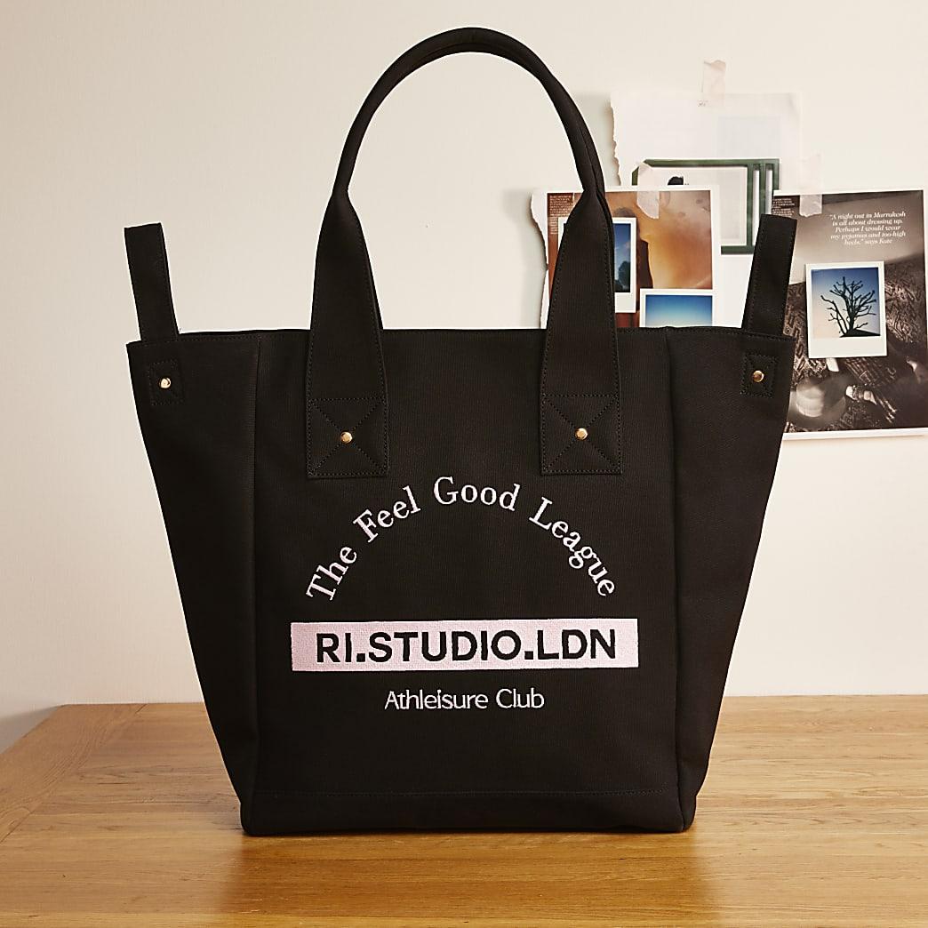 Black RI Studio canvas shopper bag