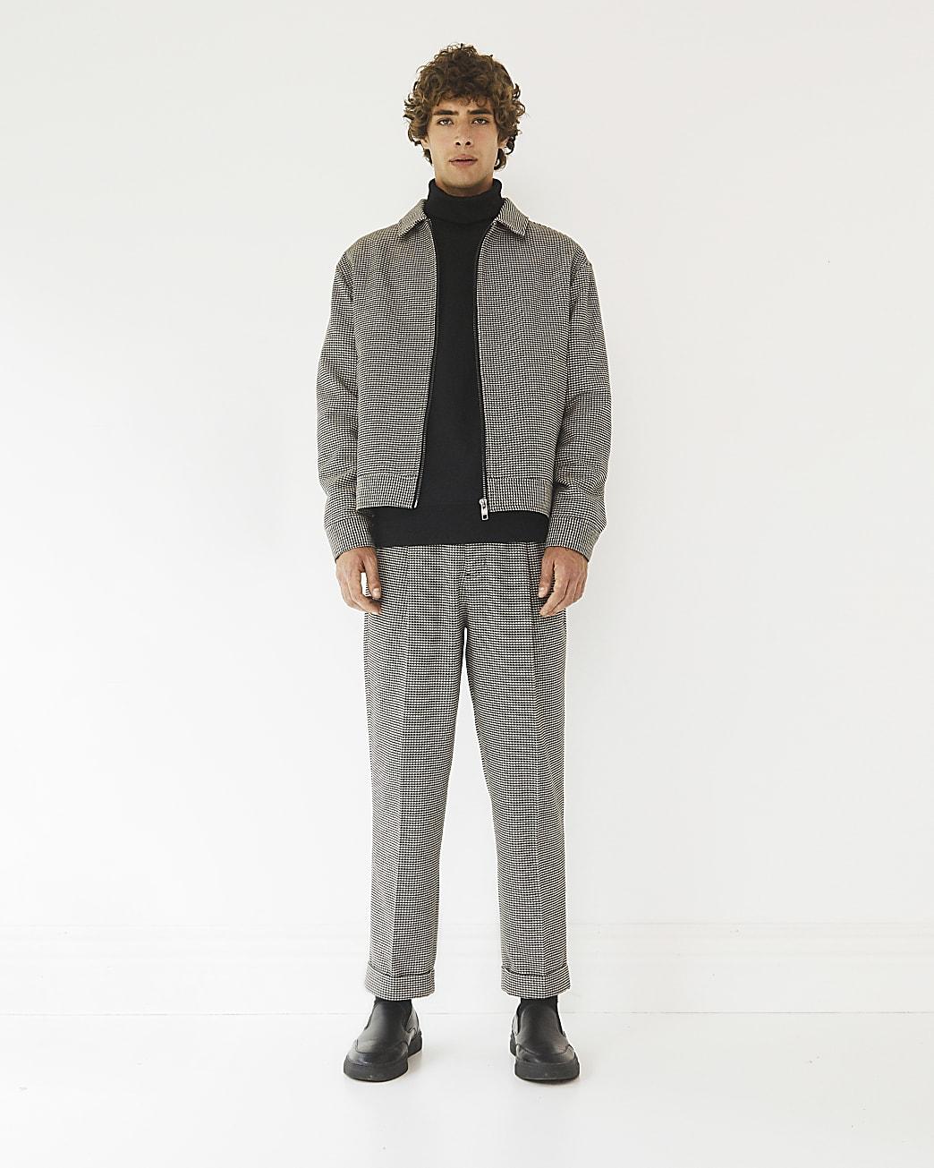 Black RI Studio gingham boxy fit jacket