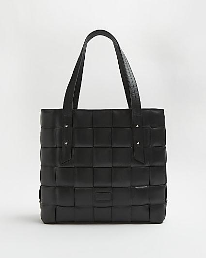 Black RI Studio Leather Tote Bag
