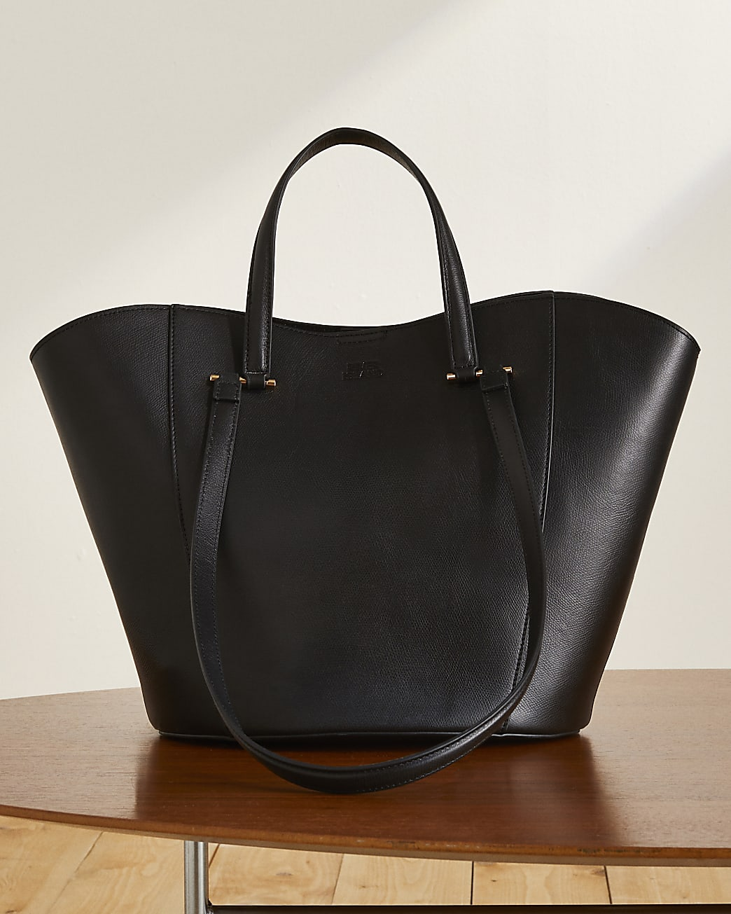 Black RI Studio leather tote handbag