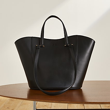 Black RI Studio leather tote handbag