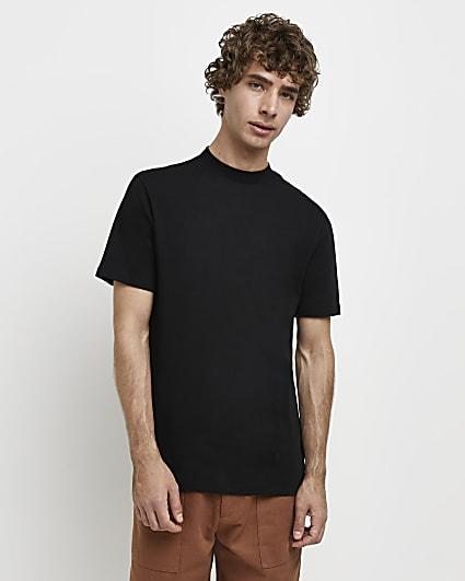 Black RI Studio slim fit high neck t-shirt