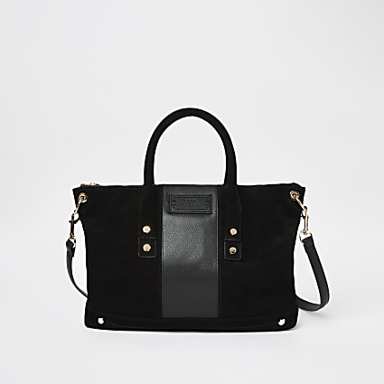 Black RI Studio soft leather tote handbag