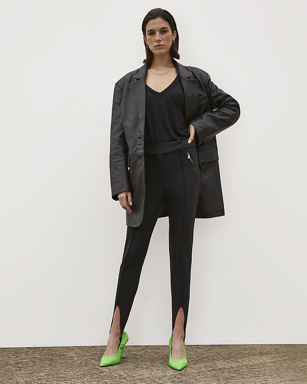 Black RI Studio Stirrup Trousers