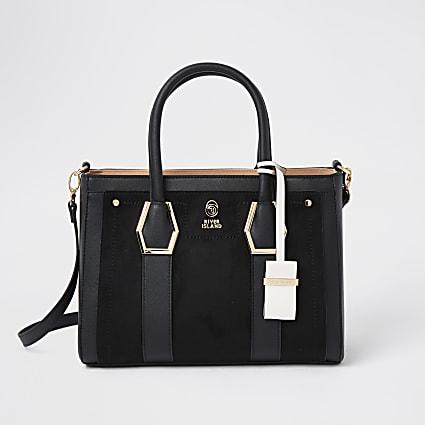 Black RI tote handbag