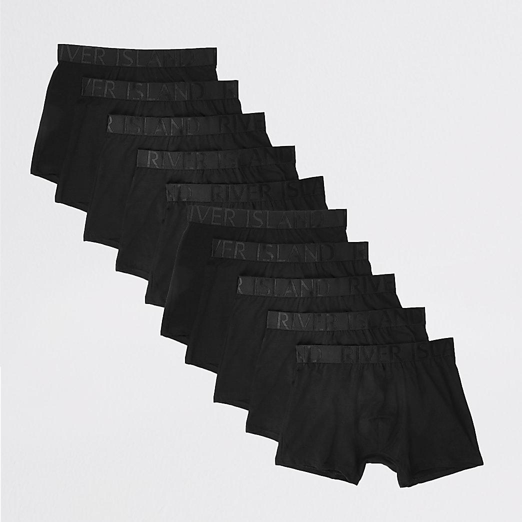 Black RI trunks 10 pack