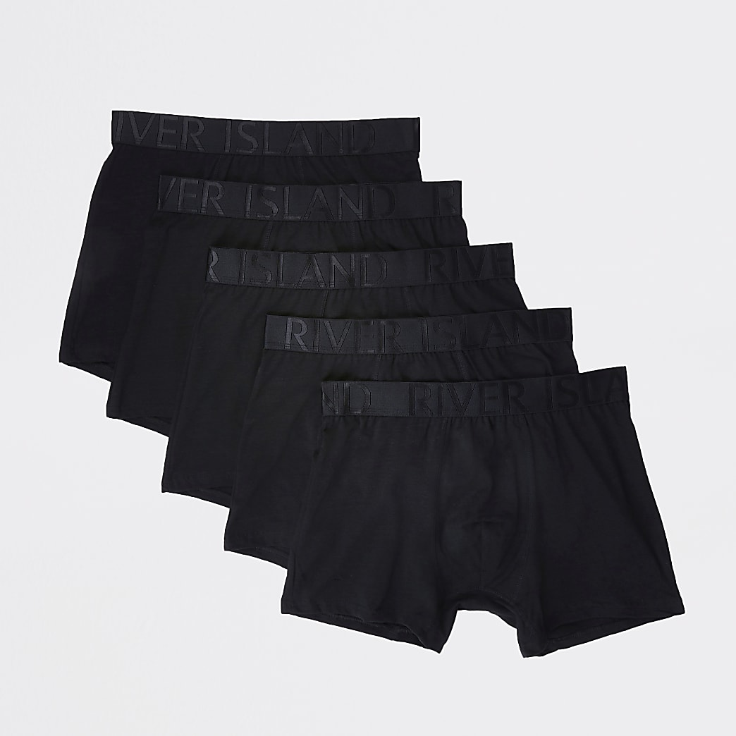 Black RI waistband trunks 5 pack