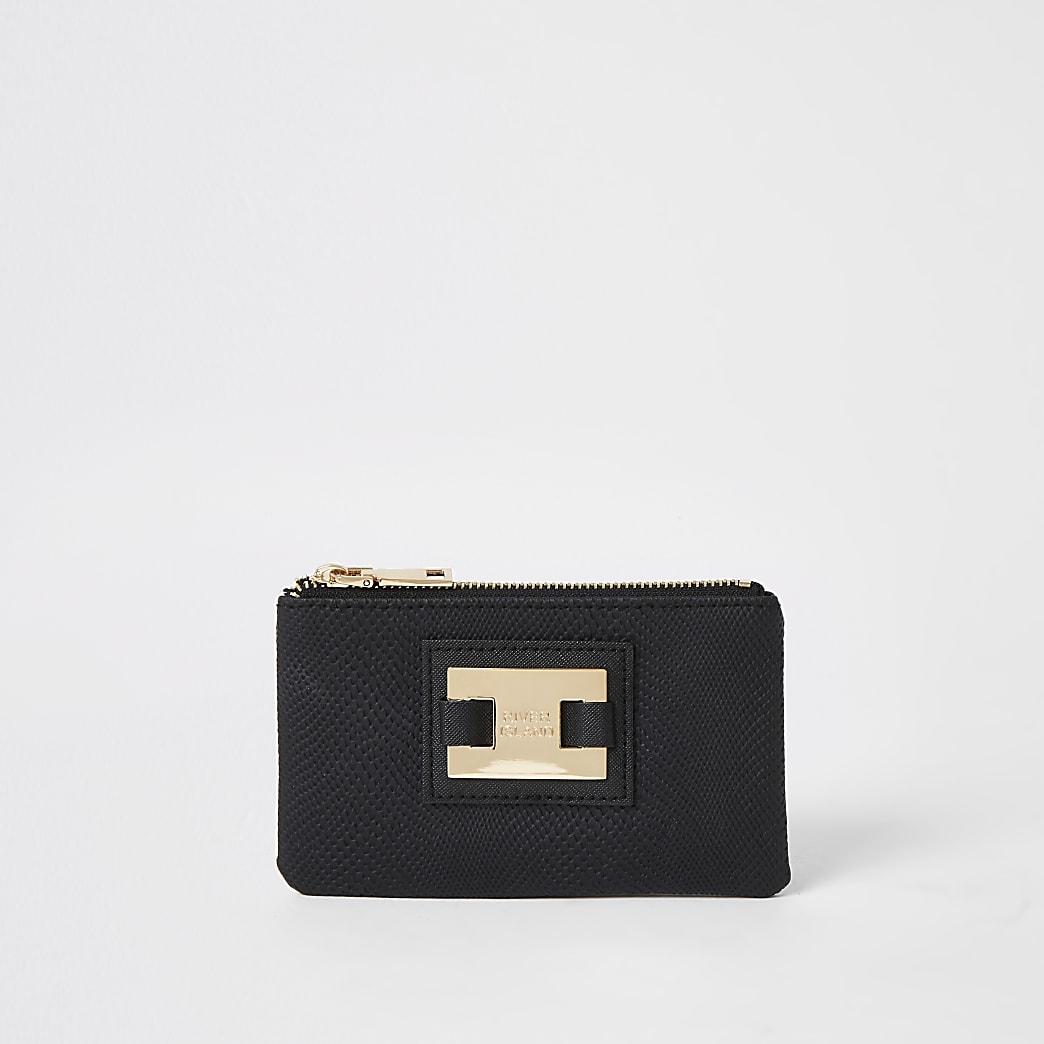 Black RI zip top pouch
