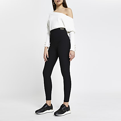Black Rib Snaffle Trim Legging