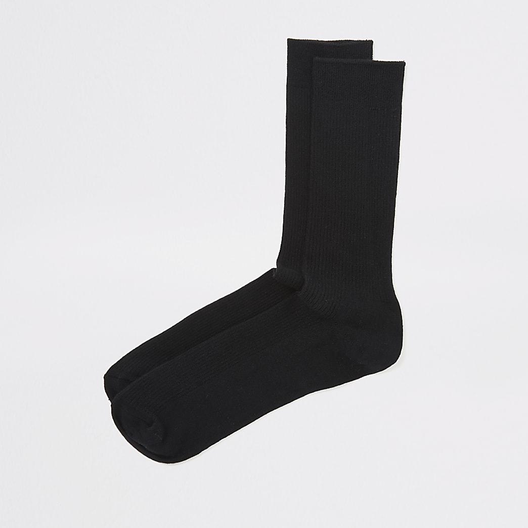 Chaussettes côtelées noires