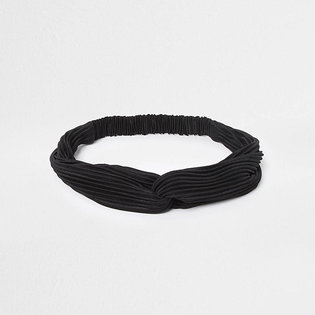 Black ribbed soft headband
