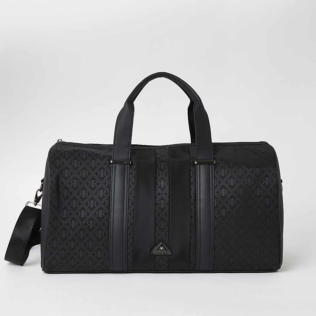 Black RIR monogram holdall bag
