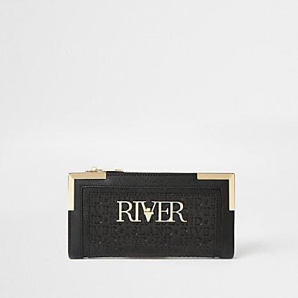 Black river embossed purse